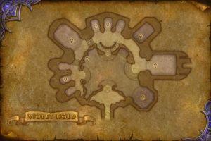 Карта Аметистовой крепости WoW