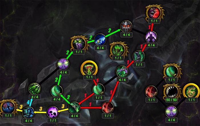 Развитие артефакта у Охотника на демонов WoW legion 7.3