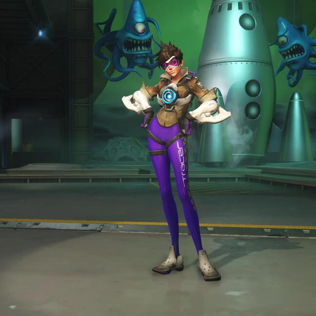 tracer skin electric purple small - Скины Трейсер (Tracer) Overwatchcd