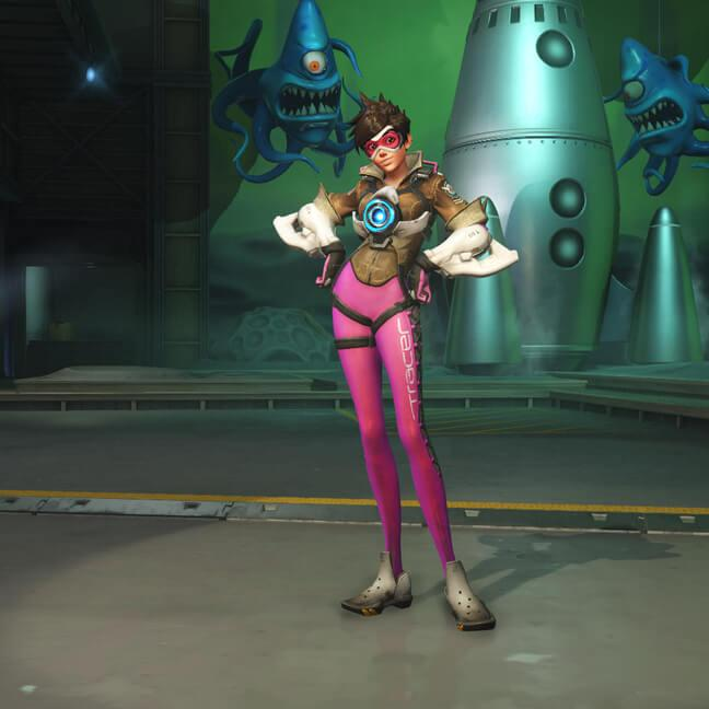 tracer skin hot pink small - Скины Трейсер (Tracer) Overwatchcd