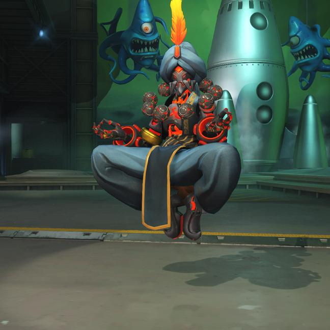 zenyatta skin ifrit small - Скины на Дзеньятта Overwatchcd