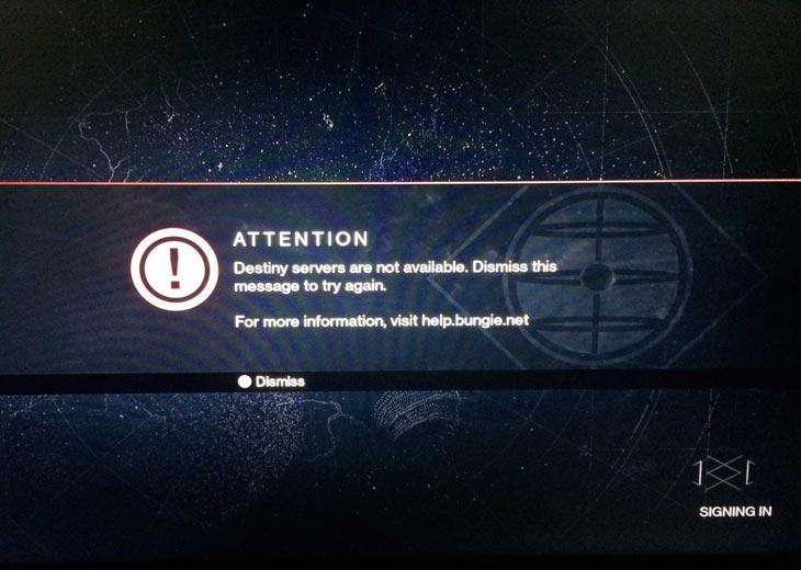 Ошибки в Destiny 2