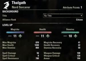 attributes 300x212 - Прокачка уровня и характеристик персонажа в TESOcd