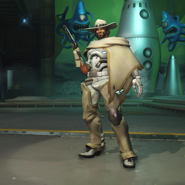 mccree skin white hat small - Маккри (McCree) скины Overwatchcd