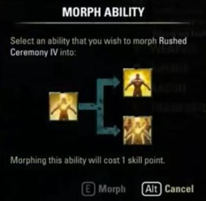 morphing abilities 300x292 - Прокачка уровня и характеристик персонажа в TESOcd