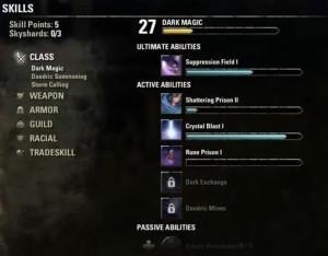 Прокачка уровня и характеристик персонажа в TESO