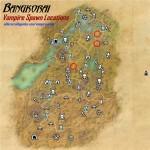 Bangkorai vampire spawn locations map 150x150 - Cтановление вампиром в TESOcd
