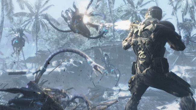 Кадр из игры Crysis