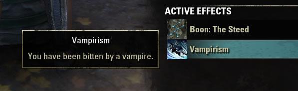 Vampirism buff - Cтановление вампиром в TESOcd