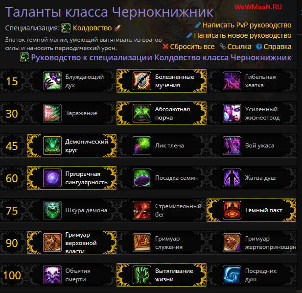 Гайд на Афли Лока 7.3 PvP WoW Legion