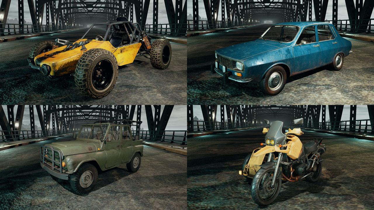 Playerunknown's-Battlegrounds-автомобиль