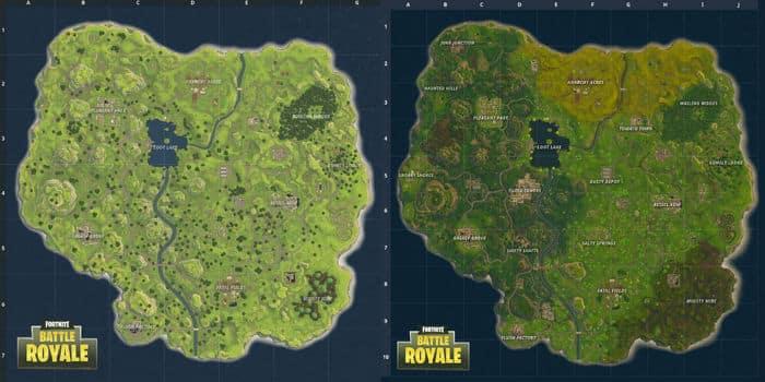 Fortnite: Battle Royale - гайд по обновленной карте