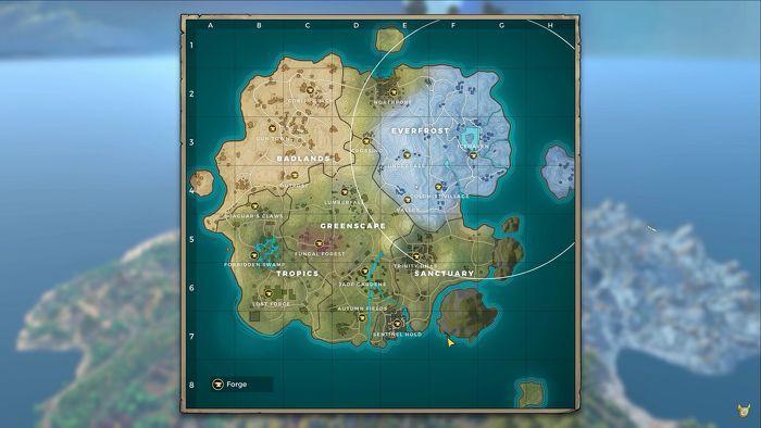 Realm Royale: Карта добычи