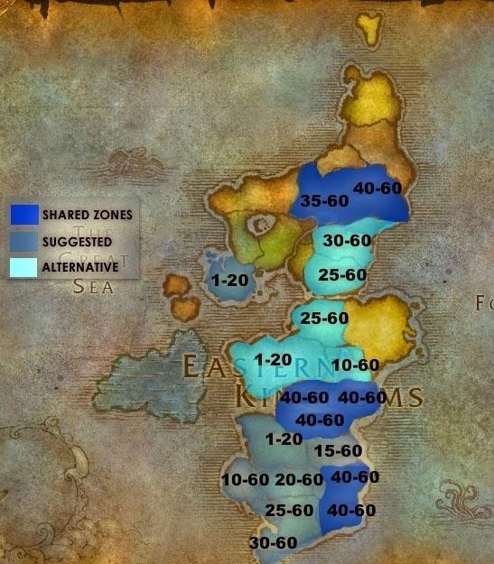 Прокачка 1 — 60 уровень WoW