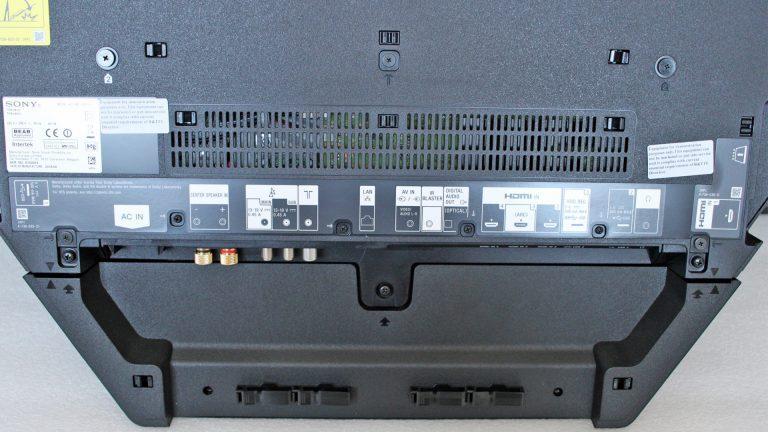 Sony AF9 OLED разъёмы и аудиовходы