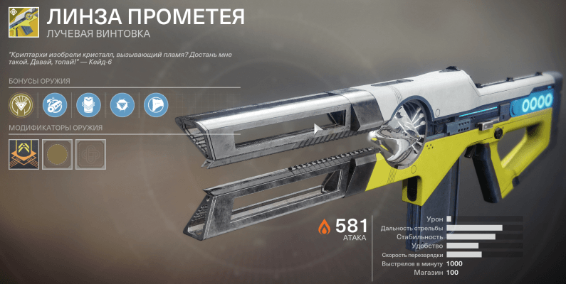 Линза Прометея Destiny 2