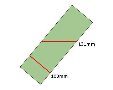 Броня толщиной 100 мм, установленная под углом 40 °, эквивалентна 131 мм стали.