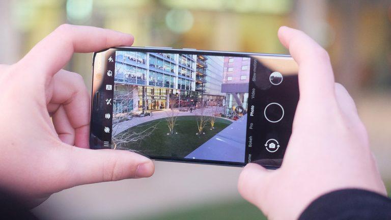 Nokia 9 PureView камера видоискатель крупным планом