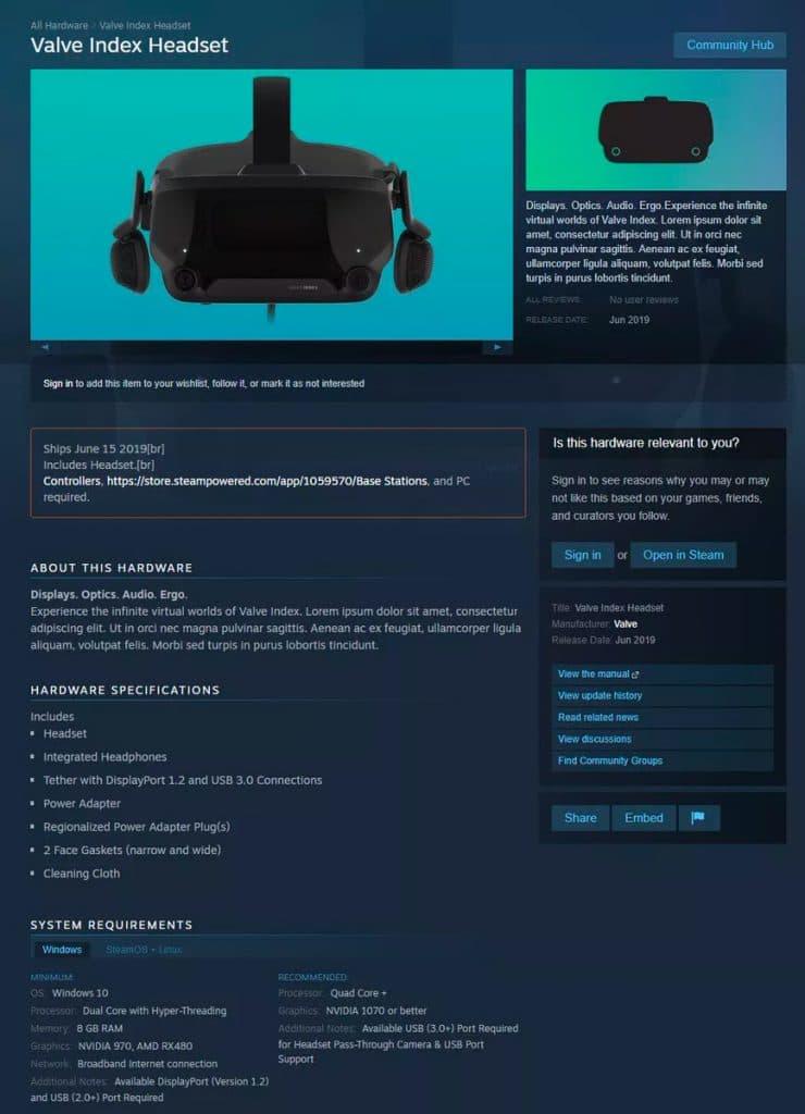 Valve Index: Цена, дата выхода, технические характеристики VR-гарнитуры Valve
