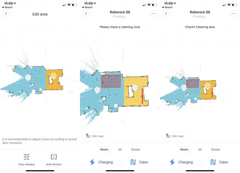 Roborock S6 карта областей