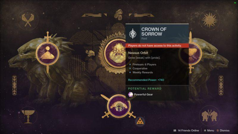 Destiny 2 Открой Корону Скорби