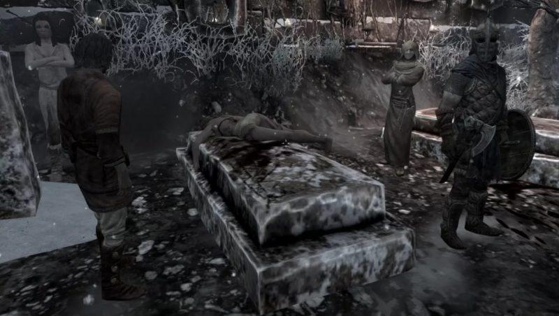 Кровь на снегу в Skyrim