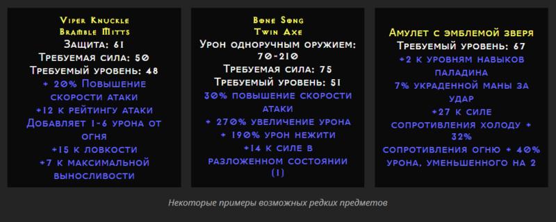 Редкость предметов в Diablo II: Resurrected